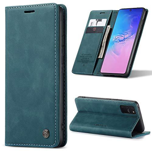 yanzi Funda para Samsung Galaxy S10 lite/A91/M80S Funda Carcasa Silicone Case Protectora Azul móvil Cover Libro Caso Cubierta Magnética Billetera Cuero S10 lite/A91/M80S Carcasa