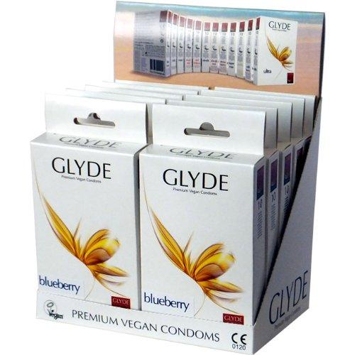 Glyde Ultra Blueberry 10 x 10 veganistische condooms, speciale aanbieding