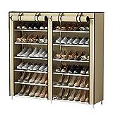 UDEAR Shoes Rack Organizador de Tela de Zapatos, Zapatero 7 Pisos con Resistente al Polvo Vestido...