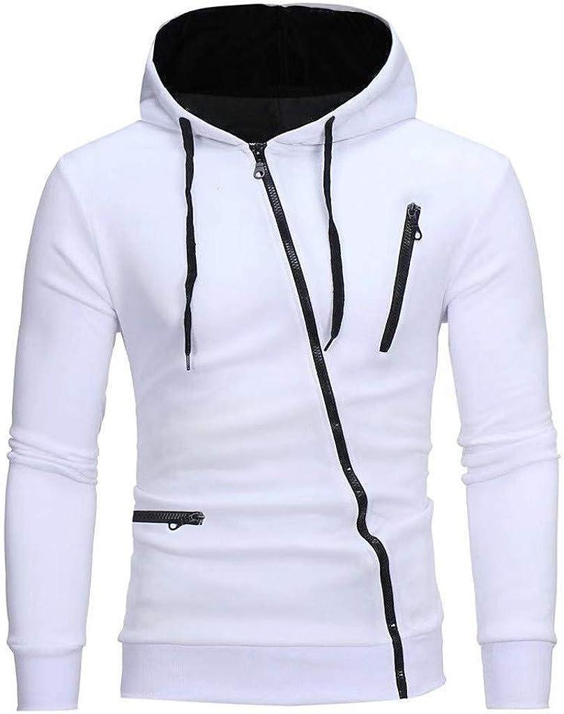 MODOQO Men's Zipper Jacket Hoodies Sweatshirt Long Sleeve Soft Warm Winter Outwear