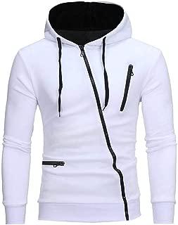 Sunward Fashion Men Warm Solid Zipper Hooded Long Sleeve Sport Outdoor Coat