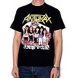 Anthrax Euphoria Group Sketch Camiseta Manga Corta, Negro, Small para Hombre