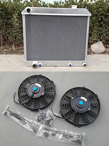 3core Radiador de aluminio + ventilador para Deville 1960-1965 1960 1961 1962 1963