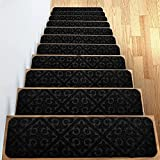 Peldaños de escalera, escalera decorativa alfombras antideslizantes, agarre antideslizante y alfombras de belleza, seguridad para niños mayores y perros, 8 'x 30'