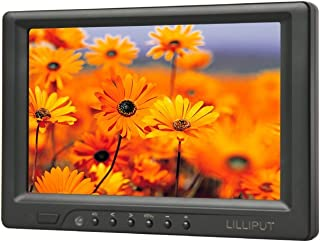 """LILLIPUT 7"""" 669gl-70np/y Ypbpr with Hdmi Input Monitor + 1/4"""" Hot Shoe Mount + 12v Rechargable Battery Package +Sun Hood f..."""