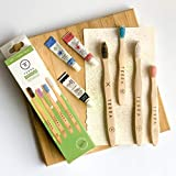 Terrabrush - Happy Mouth Happy Earth Family Pack Bamboo Toothbrushes Soft (2 Kids, 2 Adults)