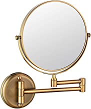 Bathroom Retractable Mirror Folding Beauty Mirror Wall Mounted Double-sided Vanity Mirror Bathroom Magnifying Glass (color...