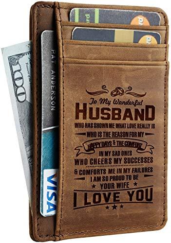 Dünne Geldbörse für Ehemann, Vater, Mutter zu Sohn, Geschenk für Jahrestag, Weihnachten, Geburtstag, Geschenk