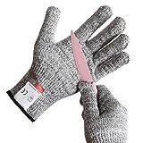 Schnittschutz-Handschuhe Extra Starker Level für Kinder – Leistungsfähiger Level 5 Schutz, lebensmittelecht, Geeignet für 5-8 Jährige(XL)