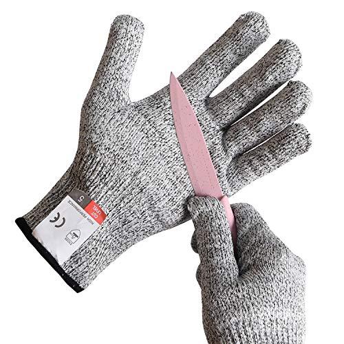 Schnittschutz-Handschuhe Extra Starker Level für Kinder – Leistungsfähiger Level 5 Schutz, lebensmittelecht, Geeignet für 5-8 Jährige(M)