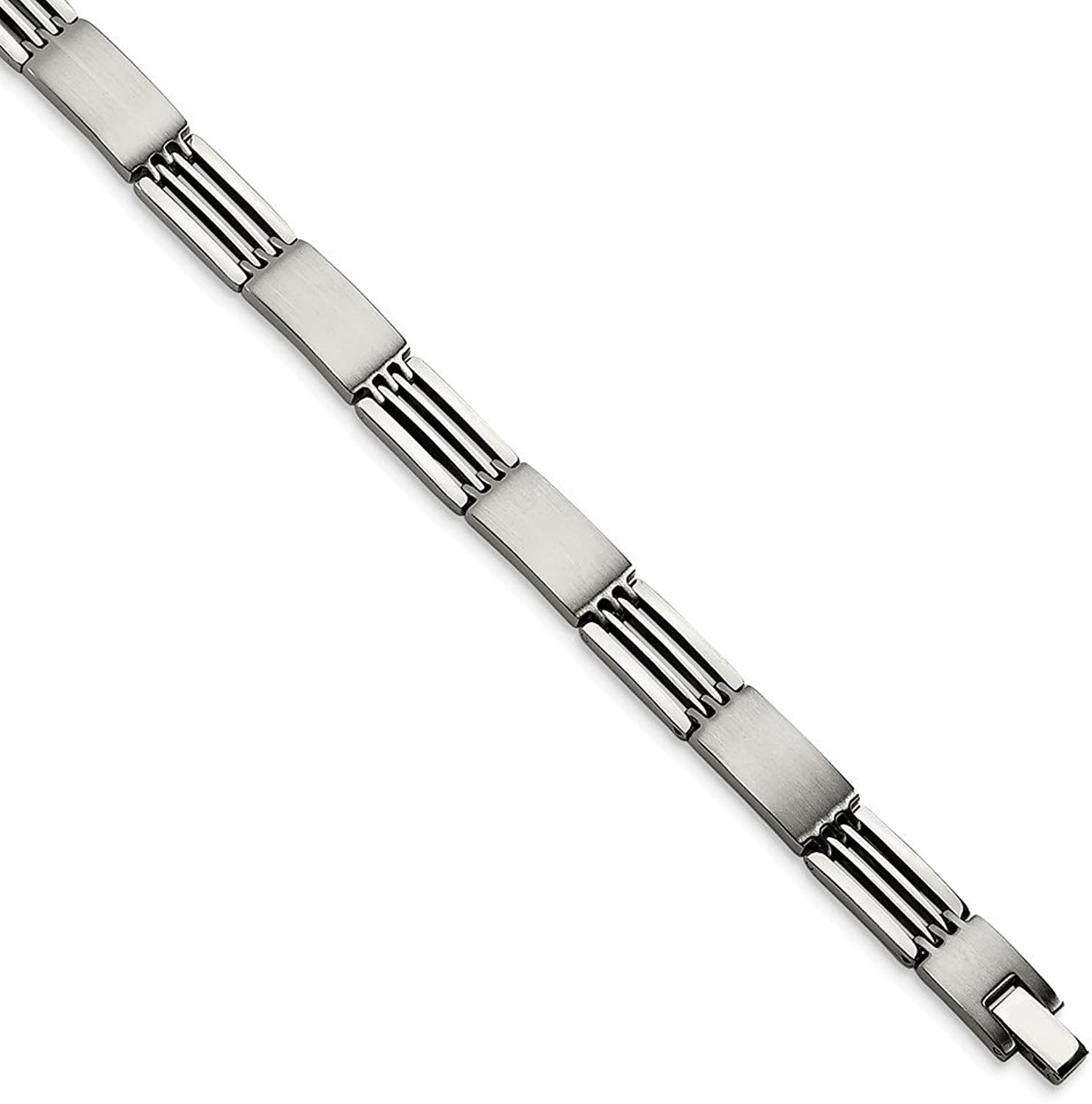 Beautiful Stainless Steel Brushed and Polished 8.25in Bracelet