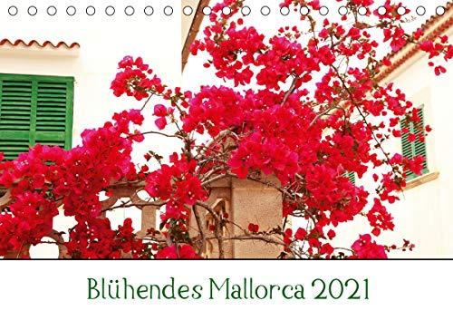 Blühendes Mallorca 2021 (Tischkalender 2021 DIN A5 quer)