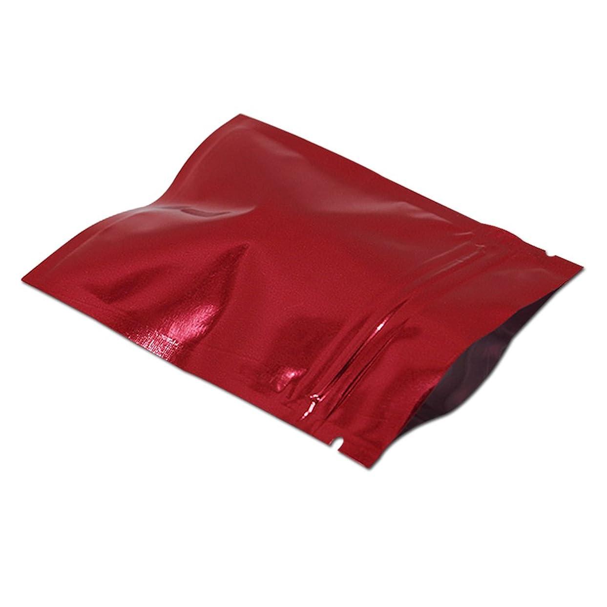 契約する確立リム10 x 15 cm カラー 食品貯蔵用 マイラー ヒートシール可能 包装袋 アルミホイル ジップロック キッチン収納 ポリ袋ストッカー 気密 再封可能 金属保管袋 (レッド)