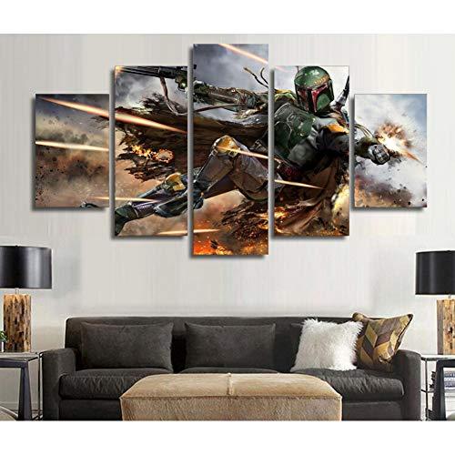 LPHMMD 5 schilderijen 5 Stuks Muur Kunst Beeld Home Decoratie Woonkamer Canvas Print Muur Bedrukken Op Doek