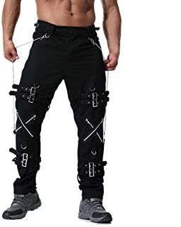 Men's Pants Plus Size Multi Zipper Cotton Vintage Classic Slim Fit Fashion Casual Trousers Long Pants Jeans