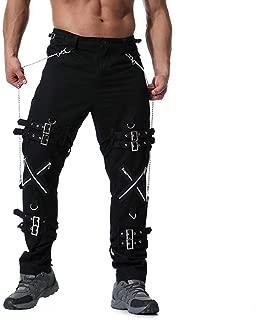 Mens Plus Size Fancy Multi Zipper Cotton Vintage Casual Trouser Long Cargo Pants