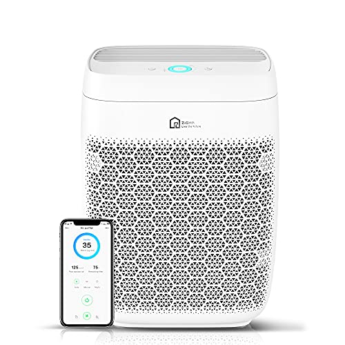 Zigma Purificateur d'air, élimine 99,97% des Allergènes, Fumée, Pollen, Poils d'animaux, avec UV-C et 5 en 1 Filtre Hepa H13, Purificateur d'air Maison purifie jusqu'à 150m², App Exklusiv, sans Ozone