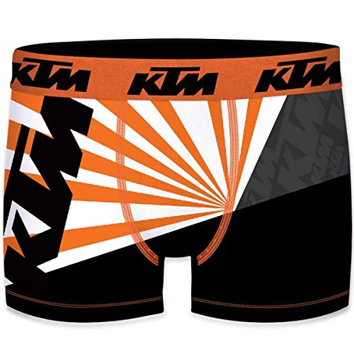 KTM Heren Boxershorts Microvezel SOL6 Oranje Wit