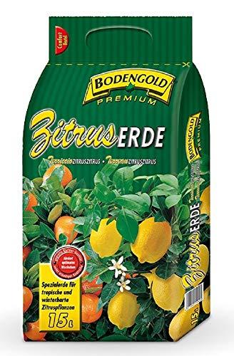 Bodengold Premium ZITRUSERDE 15 l. Kultursubstrat für mediterrane Pflanzen. Z242