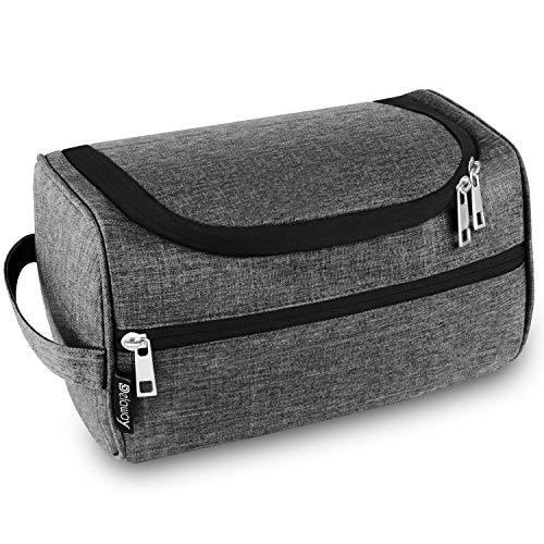 DELAWAY® Kulturbeutel Herren und Damen zum Aufhängen - Waschtasche Männer und Frauen mit Kofferhalterung (Grau)