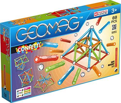 Geomag- Confetti Construcciones magnéticas y Juegos educativos, Multicolor, 88 Piezas (353)