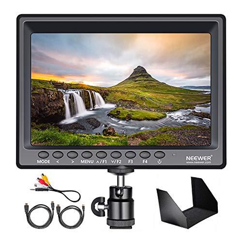 Neewer F100 7-Zoll 1280x800 IPS Bildschirm Kamera Feldmonitor unterstützt 4k-Eingang HDMI Video für DSLR Spiegellose Kamera SONY A7S II A6500 Panasonic GH5 Canon 5D Mark IV (Batterie nicht enthalten)