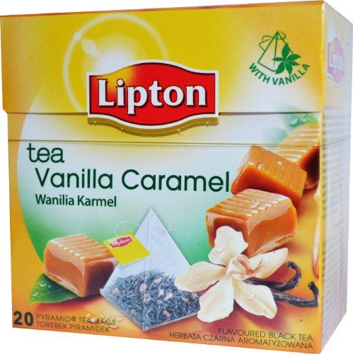 Lipton Tee Aromatisierter Schwarztee Vanilla Caramel Tea 20 Pyramiden Teebeutel