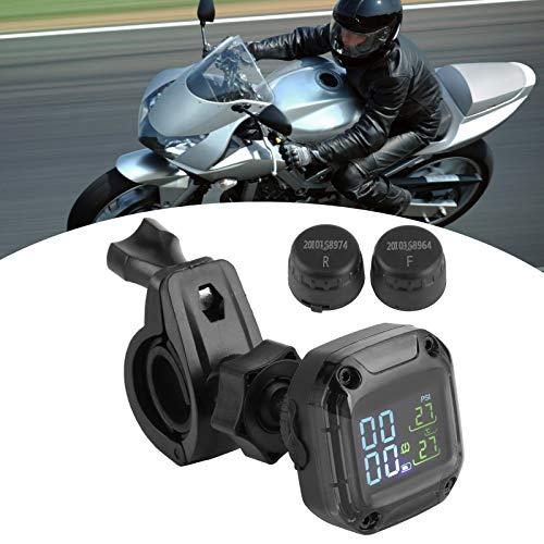 Monitoraggio della pressione dei pneumatici senza fili della bicicletta TPMS del motociclo senza fili di monitoraggio della pressione dei pneumatici in tempo reale ad alta precisione con 2 sensori