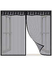 Magnetische Vliegengordijn, Zwart_130x185cm, Magnetische insectengaas hordeur, raamscherm gordijn met krachtige magneten, gaasvliegengordijn klamboe voor raam en hordeur, automatische sluiting