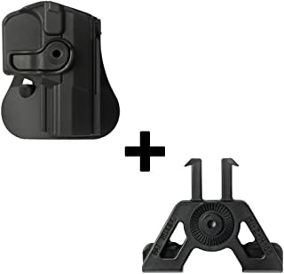6cm police wide duty belt adapter for S/&W L/&K Frame 4 Smith/&Wesson L/&K Frame 4inch Barrel // Taurus 65 Fobus kit 360 rotating roto paddle retention holster belt attachment