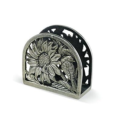 Demdaco 3005051260 Big Sky Carvers Sunflower Metal Napkin Holder, Multicolored