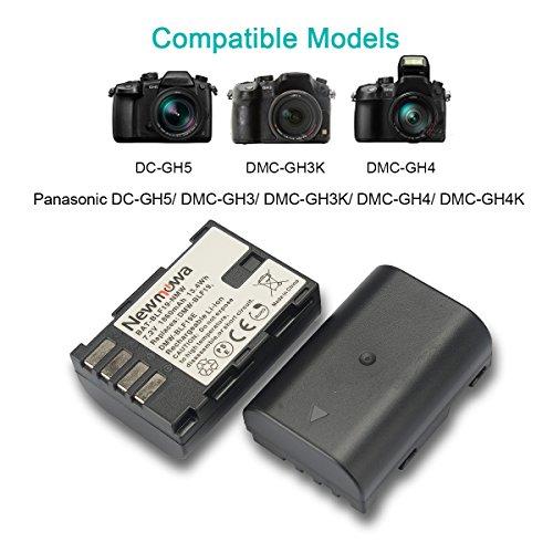 Newmowa DMW-BLF19 Battery (2 pack) and Dual USB Charger for Panasonic DMW-BLF19 and Panasonic DMW-BLF19E Panasonic DMC-GH5 DMC-GH3 DMC-GH3A DMC-GH3H DMC-GH4 DMC-GH4H DC-GH5S