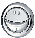 Wirquin Pro Dual Flush Toilet Cistern Button - Push Button Jollyflush Chrome Finish Replacement