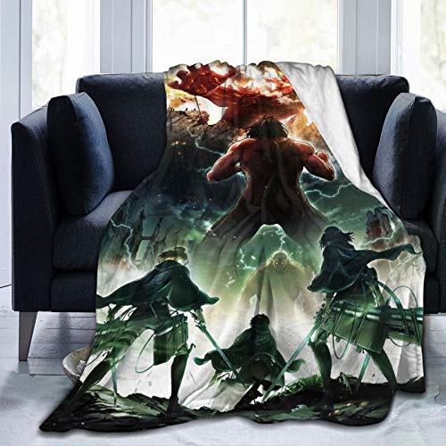 GEHIYPA Attack On Titan Ultra-Soft Micro Fleece Blanket Microfiber Blanket,Luxury Blanket For Bedding Sofa And Travel 50x40 Inch