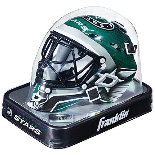 Franklin Sports Dallas Stars NHL Team Logo Mini Hockey Goalie Mask with Case - Collectible Goalie Mask with Official NHL Logos and Colors