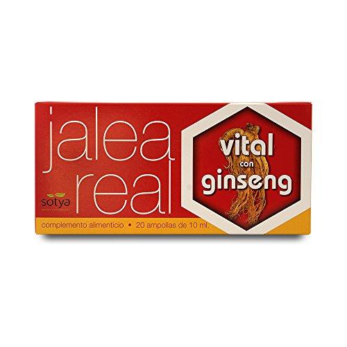Sotya Jalea Real Vital, Complemento Alimenticio con Ginseng, 20 Ampollas