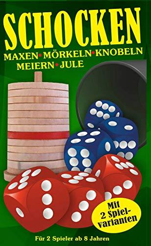 Party Spiel 2020 mit Würfel und Becher | Maxen Mörkeln Knobeln Meiern und Jule Box | Gesellschaftspiel ab 8 Jahre | Würfelspiel für Kinder Erwachsene Weihnachten Silvester Spieleabend | Schocken