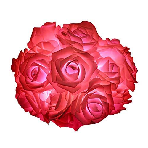 VIPMOON Led Lights,LED Rose Flower String Lights,2M 20LED Battery Operated String Romantic Flower Rose Fairy Light Lamp Outdoor for Valentines Day,Wedding,Room,Garden,Christmass,Patio-Pink
