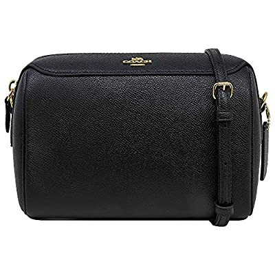 Coach Womens F76629 Crossgrain Leather Mini Bennett Crossbody Bag, Black