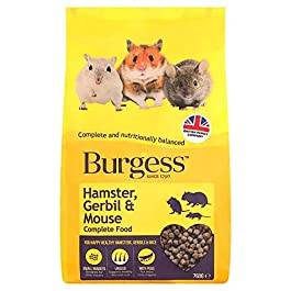 Burgess Hamster Gerbil + Mouse Food 750G -NEW!-, Pack of