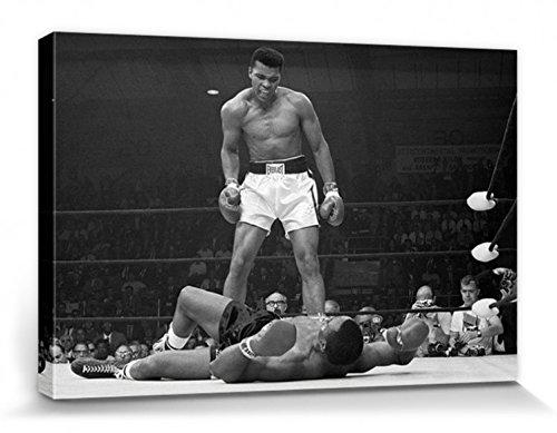 1art1 78860 Muhammad Ali - Cassius Clay Gegen Sonny Liston, Lewiston 1965 Leinwandbild Auf Keilrahmen 120 x 80 cm