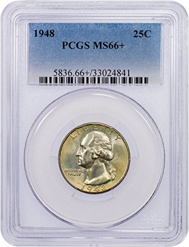 1948 P Washington Quarter Quarter MS-66+ PCGS