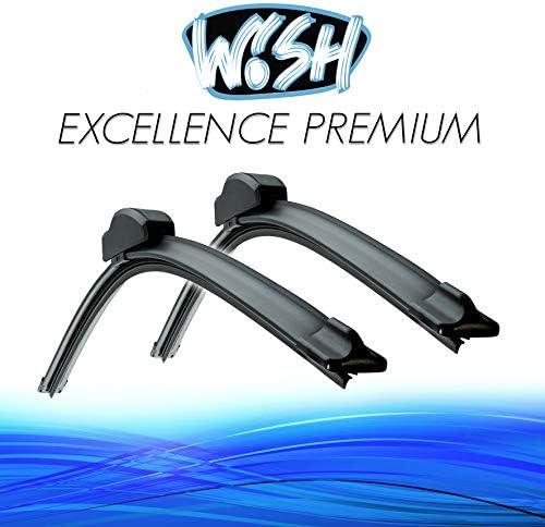 Wish Universal Premium Satz Front Scheibenwischer Länge 24 600mm 22 550mm Wischblätter Vorne Flachbalkenwischer Up24 22 B2 Auto
