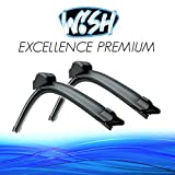 Wish® Excellence 20' 500 mm / 14' 350 mm Set di spazzole tergicristallo anteriori a barra piatta