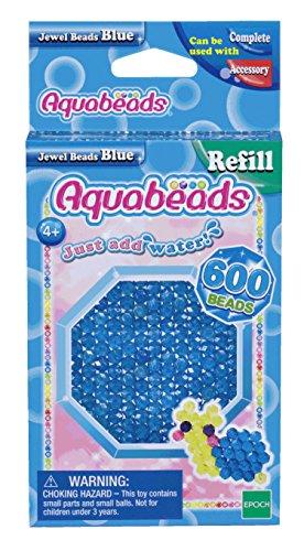 Aquabeads 32708 Blaue Glitzerperlen - Nachfüllset