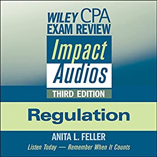 Wiley CPA Exam Review Impact Audios     Regulation, 3rd Edition              By:                                                                                                                                 Anita L. Feller                               Narrated by:                                                                                                                                 Anita L. Feller                      Length: 5 hrs and 54 mins     36 ratings     Overall 4.2