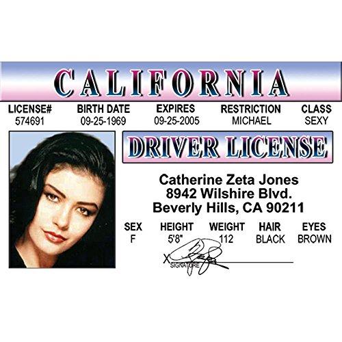 Catherine Zeta Jones Fun Fake ID License