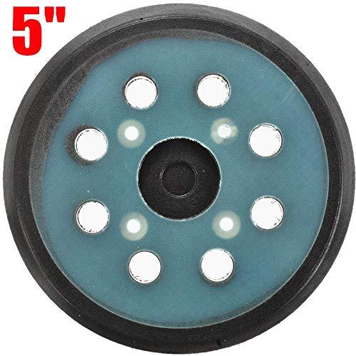 NO LOGO LT-Discs, 1Pcs 5' 8 Loch Schwarze Sander Pad Schleifen Stützteller Sander Pad Haken und Schlaufen for Elektrowerkzeuge Zubehör (Größe : 125mm (5'))
