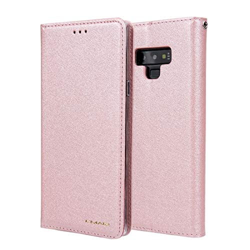 JIAHENG Phone Case Silk Pattern Wallet Phone Case for Samsung Galaxy Note9 Leather Card Case Wallet with Handy Stand Feature Flip Phone Case [PU Shockproof Interior Case] PU Leather Cover Shell