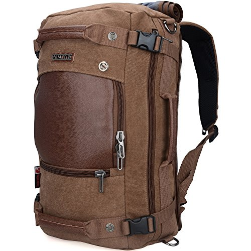WITZMAN Men Travel Backpack Canvas Rucksack Vintage Duffel...